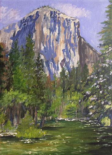 El Cap with Dogwood Image