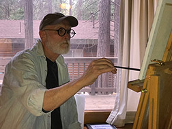 Me Painting in Cabin Photo