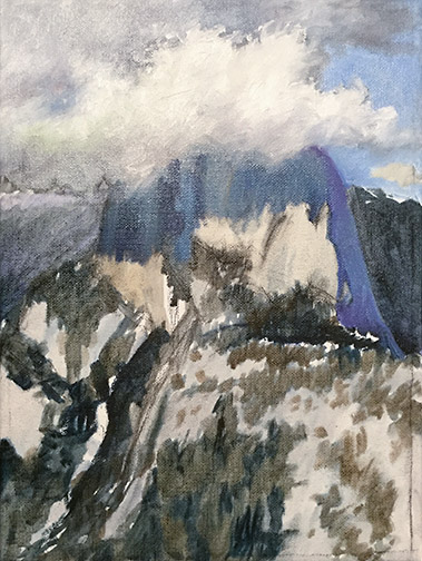Half Dome Painting Image