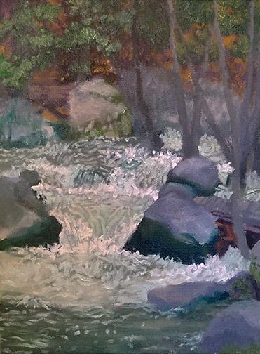 In Progress Chilnualna River Painting