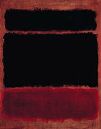 Black in Deep Red Image