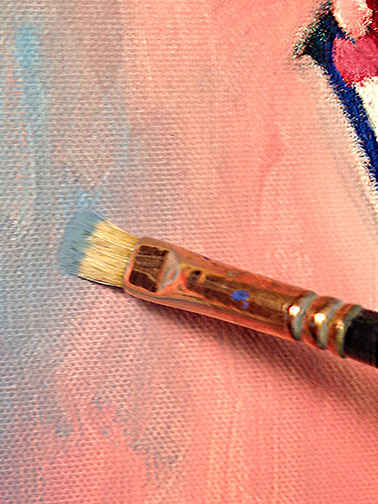 Applying Paint Photo
