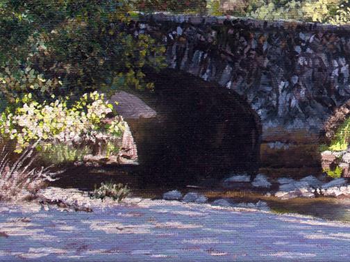 Ahwahnee Bridge Detail Image