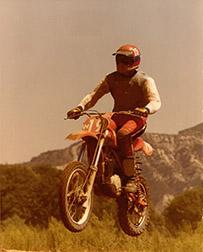 Motocross Biker Image