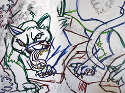 Mt. Lion Sketch on Canvas