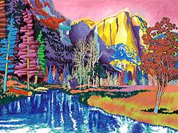 Yosemite Falls from Sentinel Swinging Bridge Painting